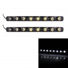 2W 144lm 6000K 8-SMD 5050 LED White Light Car Tagfahrlicht - (DC 12V / 2 PCS)