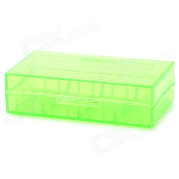 Convenient PVC + PC Carrying Case for 18650 Battery - Translucent GreenStorage Supplies<br>ModelNQuantity1Form  ColorGreenMaterialPVC+PCPacking List1 x Battery case<br>