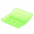 Convenient PVC + PC Carrying Case for 18650 Battery - Translucent Green