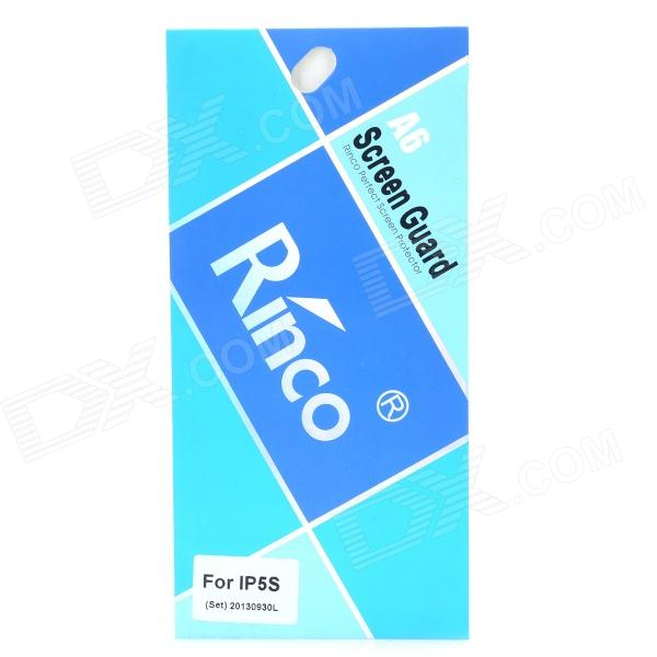 Rinco Protective ARM Clear Front Screen + Back Guard Films Set for Iphone 5S - Transparent fema front back 6d colorful laser tempered glass screen films for iphone 6s plus 6 plus rainbow triangles