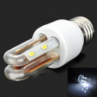 E27-2U U Shape E27 6W 318lm 6500K 8 LED 5730 White Light Energy Saving Bulb - White (AC 85~265V)