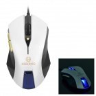 USB 2.0 Wired Optical 500 / 1000 / 1600 / 2400dpi Game / Office Mouse - Black + Silver