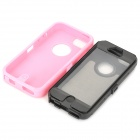 Protective Plastic + Silicone Detachable Full Body Case for Iphone 5C - Pink + Black