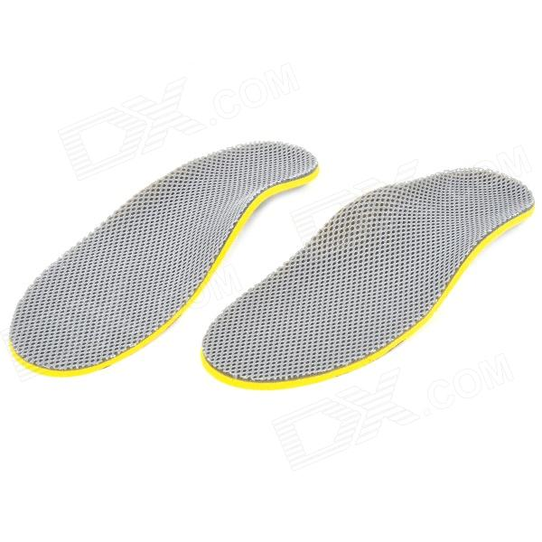 Adjustable Soft Shoe Insole Pads - Grey + Yellow