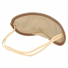 Viajes Cotton Sleeping Eye Mask-Shade - Marrón + Beige