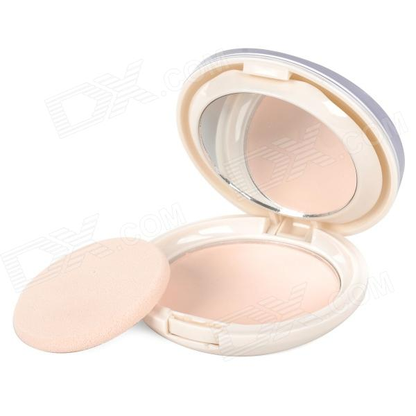 BOB Cosmetic Makeup Powder w/ Puff / Mirror -  Pink Beige (01#) candy color calabash shaped cosmetic makeup cotton pads sponge puff pink