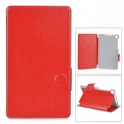 Ultrathin Protective PU Leather Case for Google Nexus 7 II - Red + Grey