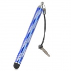 Retractable Capacitive Touch Screen Stylus Pen w/ Anti-Dust Plug for Iphone / Ipad - Deep Blue