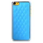 Mesh Pattern Protective Plastic + PC Back Case for Iphone 5C - Blue + Silver