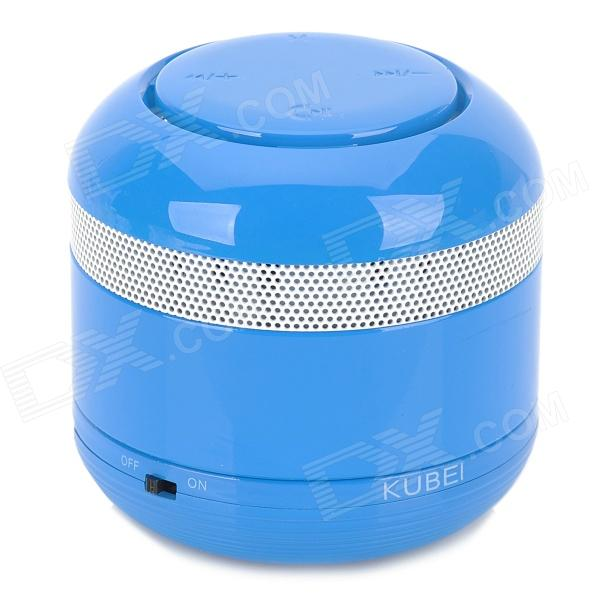 KUBEI 298 Portable Bluetooth V3.0 Wireless Speaker w/ Handsfree / FM Radio / Card Slot / AUX - Blue portable professional 2 4g wireless voice amplifier megaphone booster amplifier speaker wireless microphone fm radio mp3 playing