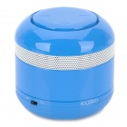 KUBEI 298 Portable Bluetooth V3.0 Wireless Speaker w/ Handsfree / FM Radio / Card Slot / AUX - Blue