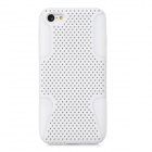 Protective Plastic Mesh + Silicone Back Cases for Iphone 5C - White