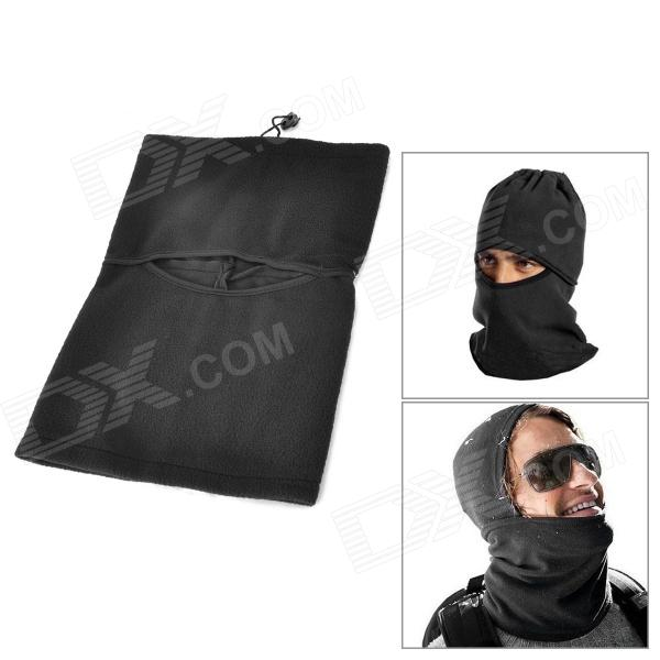 DXK Multifunction Fleece Helmet Cap / Neckerchief - Black
