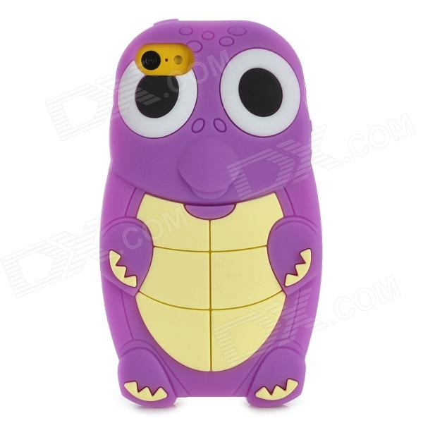 Cartoon Sea Turtle Style Protective Silicone Back Case for Iphone 5C - Purple stylish protective silicone back case for iphone 5c grey