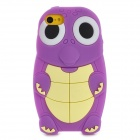 Cartoon Sea Turtle Style Protective Silicone Back Case for Iphone 5C - Purple