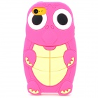 Cute Turtle Pattern Protective Silicone Back Case for Iphone 5C - Deep Pink + Beige + White + Black