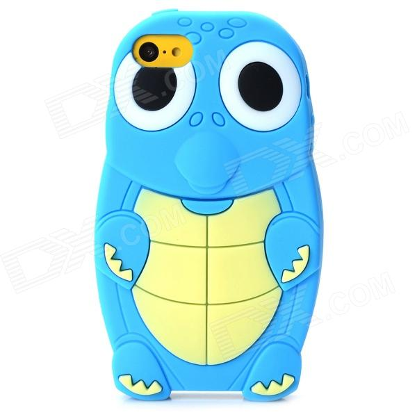 Cute Turtle Pattern Protective Silicone Back Case for Iphone 5C - Blue + Beige + White + Black protective matte silicone case for iphone 5 5s dark blue white