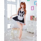 Maid Role Women's Play Costumes - Black + White (Free Size)