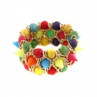 Character Rivets Style All-Match Wide Women's Bracelet - Multicolored