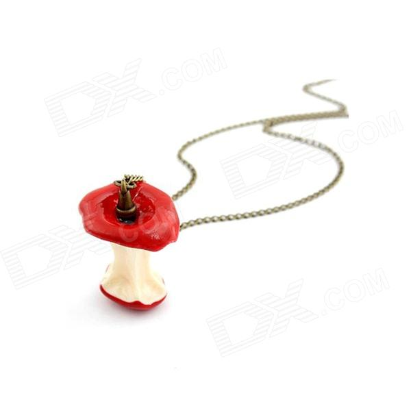 Fashionable Yummy Apple Pattern Sweater Chain Women's Necklace - Red + Golden