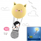 170-HY004 Little Girl Style E12 25W Wall Light w/ Hot Air Balloon Paper Sticker - Multicolored
