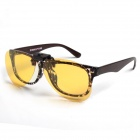 ReeDoon Clip-on UV Protection Polarized Attachment Sunglasses - Yellow + Black