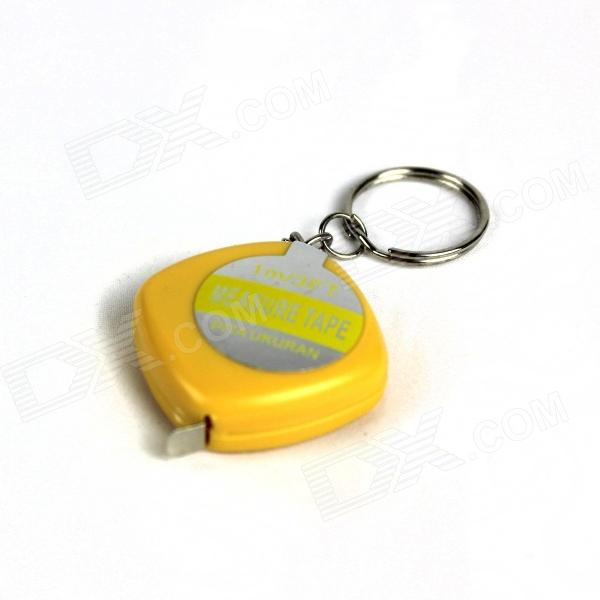Simulation Ruler Get Electric Shock Keychain Tricky Props - Yellow + Silver