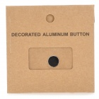 Brushed Metal + Plastic Home Button Sticker for IPHONE - Black