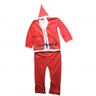 Adult Santa Claus Role Playing Suit - Red + White (Free Size)