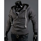 Fashionable Men's Slim Fit Jacket - Deep Grey (Size-XL)
