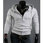 Fashionable Men's Slim Fit Jacket - Light Grey (Size-XL)