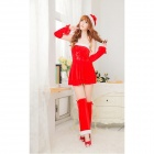 SD524 Sexy Women's Christmas Dress - Red (Free Size)