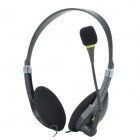 MEECLE MB-440 Stereo Headset Headphones w/ Microphone - Black (3.5mm Plug / 144cm-Cable)
