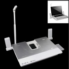 Multifunctional Notebook / Laptop Cooler Pad - White + Silver
