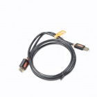 Jeway JCA-7401 Gold Plated USB 3.0 Male to Female Extension Cable - Black + Orange (180cm)