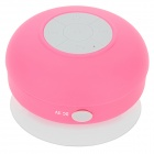 Waterproof Bluetooth V3.0+EDR Speaker w/ Silicone Suction Cup for Iphone + More - Deep Pink + Grey