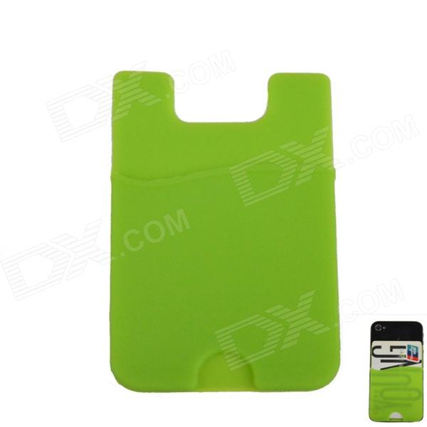 Fashionable Smart Wallet Silicone Card Holder for Iphone 4 / 4S / Samsung Galaxy S2 / HTC - Green