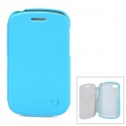 USAMS Q10XK02 Protective PU Leather + PC Case for BlackBerry Q10 - Light Blue