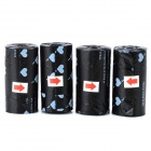 Doglemi DM90012 Pet Dog Poop Garbage Bag - Black (4 PCS)
