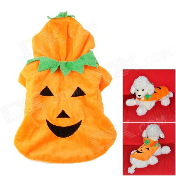 JUQI Pumpkin Style Cotton Clothes for Pet Dog - Orange (S) egg style hard rubber pet dog bouncy ball toy light orange