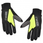 SPAKCT S13G10 Bicycle Cycling Full-Finger Gloves - Black + Fluorescent Green (L / Pair)