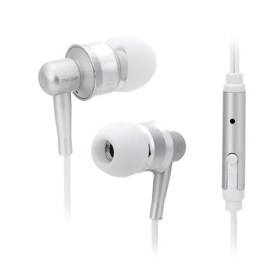 OVLENG iP670 In-Ear Earphone w/ Microphone for Cell Phone - Black + Silver