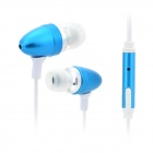 OVLENG iP710 In-Ear Earphone w/ Microphone for Cell Phone - Blue + White