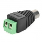 Y-8 RCA Male to 2-pin AV Adapter - Black + Green