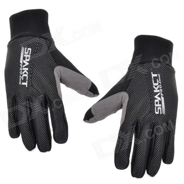 SPAKCT S13G10 Bicycle Cycling Full-finger Gloves - Black (L / Pair) spakct s13g10 bicycle cycling full finger gloves black white xl