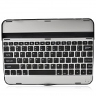 Rechargeable Wireless Bluetooth V3.0 82-Key Keyboard for Samsung Galaxy Tab 3 - Black + Silver