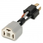 Universal Connection cable for H4 Light Bulb - Black + Light Grey