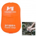 YOUNG TIME Portable Travel Confetti Soaps w/ Case - Orange