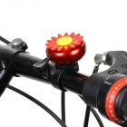 Chrysanthemum Style Bicycle Handle Bar Bell Ring - Red + Black