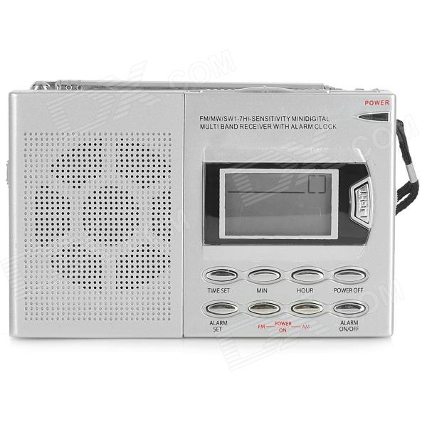 SAYIN SY-6611 1.4 Screen AM / FM / SW Muti-band ABS Radio - Silver Grey + Black (AA battery)